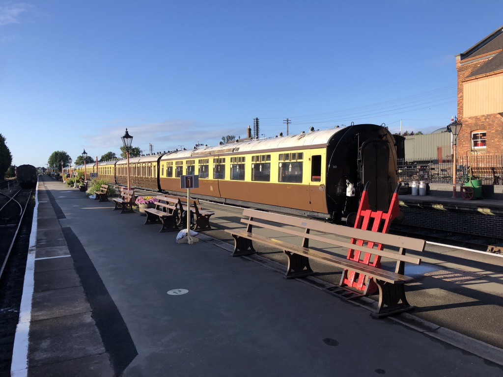 Our GWR carriages await